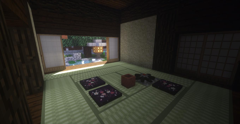 マインクラフトで作った茶室